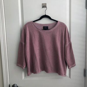 Raw Hem Pink Sweatshirt